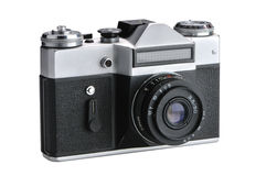 Old film camera. On a white background Royalty Free Stock Photo