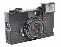 Old film camera. Isolated Old film camera isolated on a white background Stock Photo