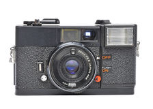 Old film camera. Isolated on a white background Stock Photos
