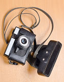 Old film camera of Amateur level Royalty Free Stock Images