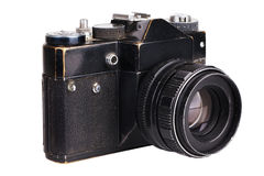 Old film camera in black Royalty Free Stock Image