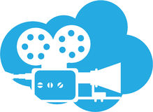 Old film camera Cloud Icon Vector. File eps Stock Photo