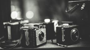 Old Film Camera Collection Set stock images