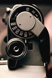Old Film Camera detail of the Trigger and Shutter Speed Control Royalty Free Stock Photos