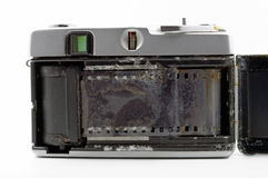 Old film camera drowned in sea water Stock Photo