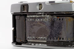Old film camera drowned in sea water Stock Photography