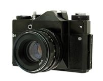 Old film camera isolated stock photos