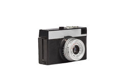 Old film camera isolated on white. Retro vintage film camera on white background Stock Image