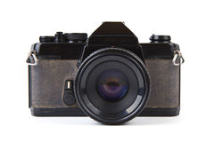Old film camera with lens Royalty Free Stock Photos