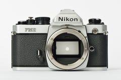 Old film camera Nikon FM2 Royalty Free Stock Image