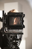 Old film camera screen Royalty Free Stock Photography