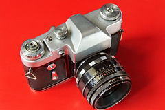 Old film cameras Stock Photos