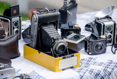 Old film cameras Royalty Free Stock Image