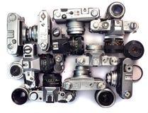 Old film cameras Stock Image