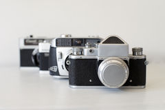 Old film cameras Royalty Free Stock Photo