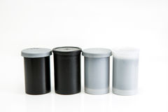 Old Film Canisters Stock Photography