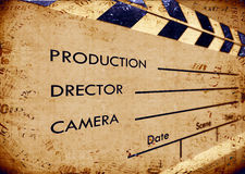 Old film Clapboard. 2D art Royalty Free Stock Photo