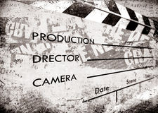 Old film Clapboard. 2D art Royalty Free Stock Images