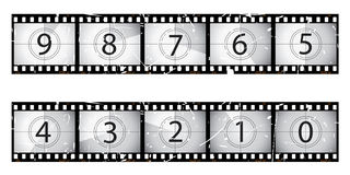 Old film countdown Stock Photo