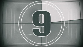 Old film countdown leader Royalty Free Stock Photo