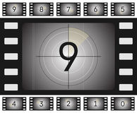 Old film countdown. Vector old film countdown with scratches and vorse for your animation stock illustration