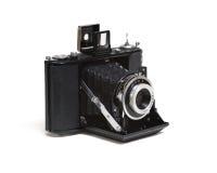 Old film folding camera Stock Image