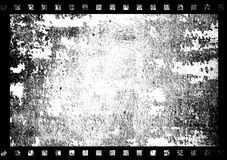 Old film frame. An illustration of old film frame on black and white Royalty Free Stock Images