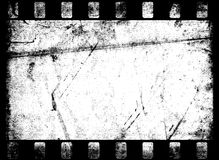 Old Film Frame. Dirty old Movie Film Frame Stock Image