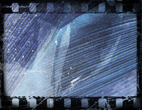 Old film frame. Old film strip, with grunge effects vector illustration