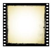 Old film frame in grunge style Stock Image