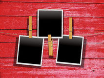 Old Film Frame over Wood Royalty Free Stock Photo