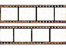 Old film frames. Isolated over white Stock Image