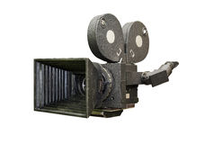 Old film movie camera. Old analog professional movie camera. movie shooting. the creation of films and documentaries Stock Photography