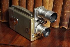 Old film movie camera (kino) Royalty Free Stock Images
