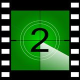 Old film movie countdown frame. Vector.  Royalty Free Stock Images
