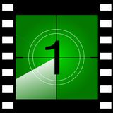 Old film movie countdown frame. Vector.  Stock Image