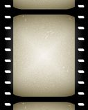 Old film or movie frames. Roll of old overexposed black and white film Stock Photo