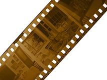 Old film negative. 35mm film negative, one frame in the middle, can replace with own picture stock photography
