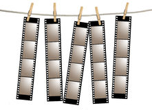 Old Film Negative Filmstrips Royalty Free Stock Images