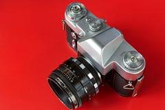Old film photo camera Stock Photo