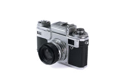 Old film photo camera Stock Images