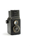 Old film photo camera on white background Stock Image