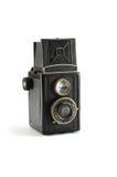 Old film photo camera on white background Stock Image