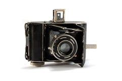 Old film photo camera on white background Stock Photos