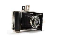 Old film photo camera on white background Royalty Free Stock Image