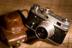 Old film photocamera Royalty Free Stock Image