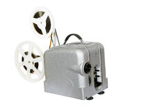 Old film projector for movies. Old film projector for watching movies. view films and documentaries stock images