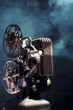 Old Film Projector With Dramatic Lighting Stock Photography