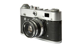 Old film rangefinder camera Stock Image