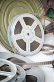 Old film reel cinematography Royalty Free Stock Photography